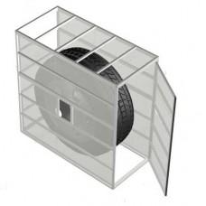 Клеть для безопасной накачки колес